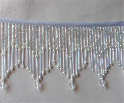 window bead trim beautiful 3 1 2 quot glass beaded fringe trim 401 ebay