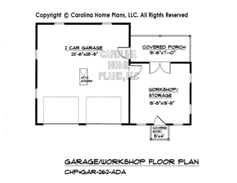 garage workshop plans country style garage workshop plan gar 262 ad sq ft