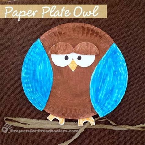 owl paper plate craft a glimpse inside 30 owl project ideas