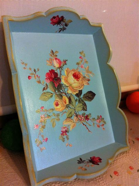 decoupage tray ideas 411 best ideas about decoupage trays on wood