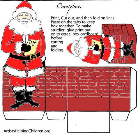 santa paper crafts paper crafts templates make a santa clause paper