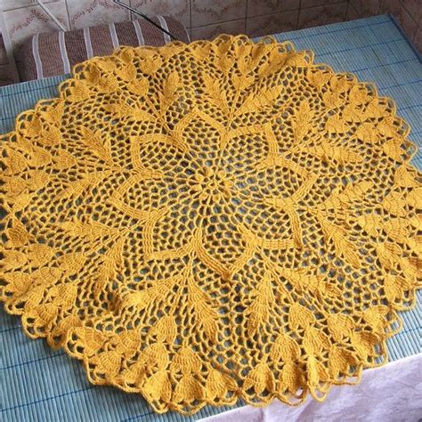 knitting patterns for tablecloths woolen tablecloth knitted crochet for home decor via