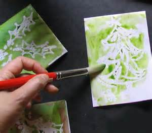 handmade card techniques easy technique for painting handmade cards