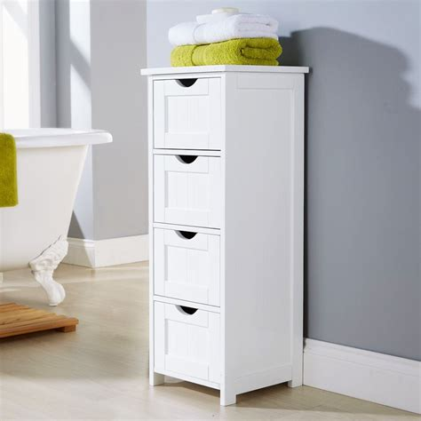 bathroom storage cabinets with drawers shaker style 4 drawer bathroom cabinet standing storage