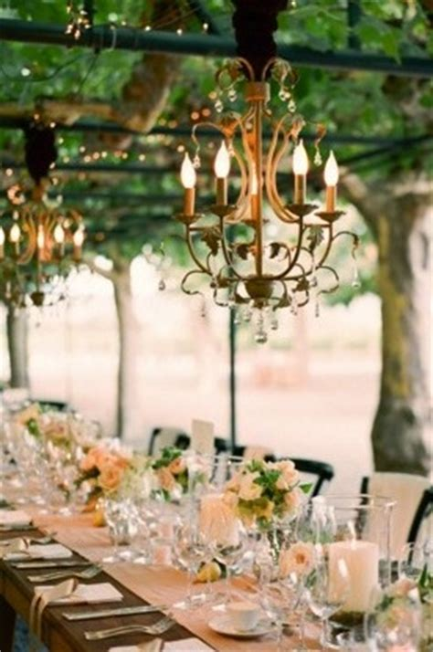 outside chandeliers chandelier outdoor wedding once wed