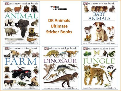 animal picture books world of wonders dk animals ultimate sticker books