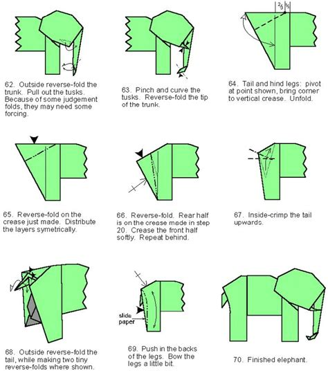 how to make a elephant origami free coloring pages origami in