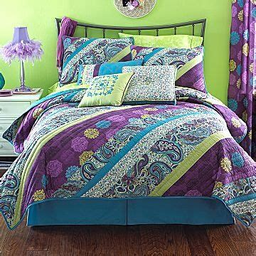 purple and green comforter set the world s catalog of ideas