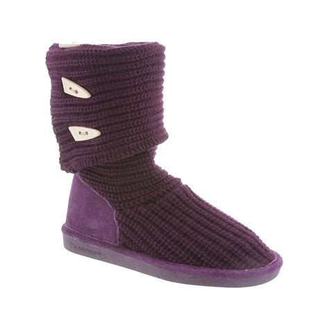 knit boot bearpaw knit triangle button boot s ebay