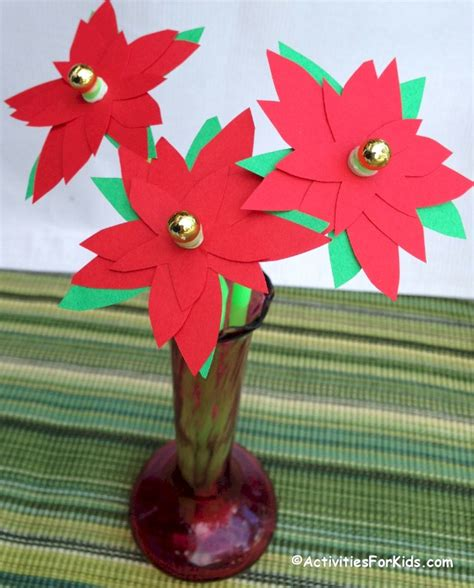 poinsettia craft project poinsettia flower craft activity activities