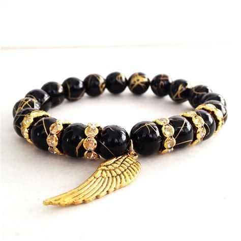black and gold bead bracelet black and gold bracelet imagesjordanisadore
