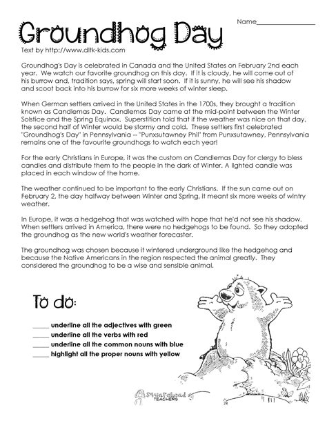 groundhog day analysis 16 best images of this day in history worksheet