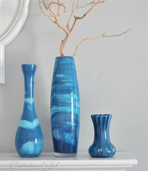 acrylic painting glass craft of the day paint swirl vases that mimic venetian