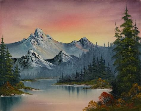 bob ross painting in bob ross evening splendor painting bob ross evening