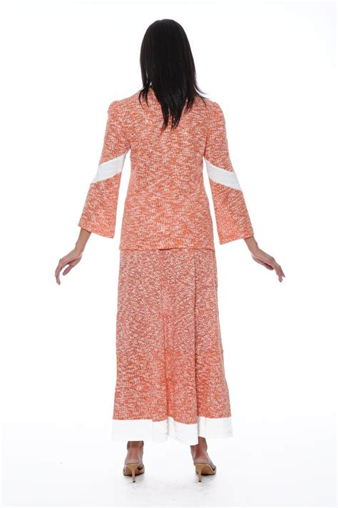 knit suits for church knit suits orange ds50262 knit top and
