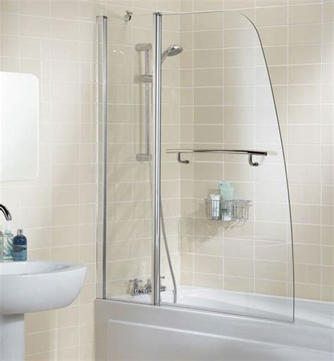 bath shower rails lakes sculpted bath shower screen with rail 1175mm ss44 05
