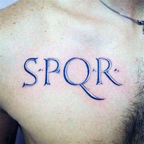 40 spqr tattoo designs for men senātus populusque
