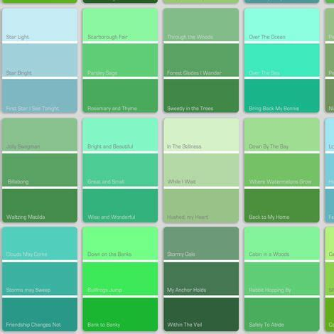 paint colors shades shade blue to green color search website