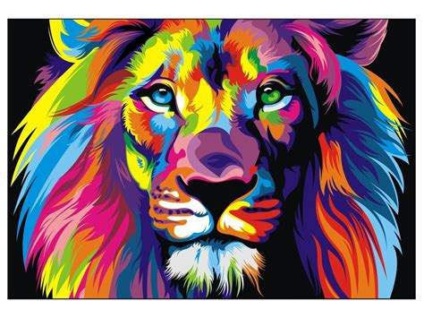 whole painting canvas banksy print rainbow painting 70cm