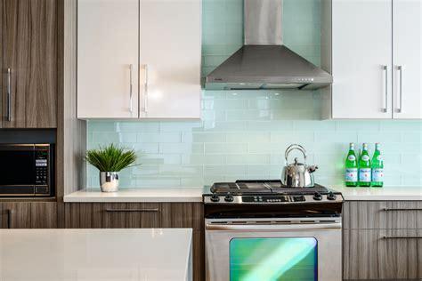 contemporary kitchen backsplashes subway glass tile backsplash kitchen contemporary with