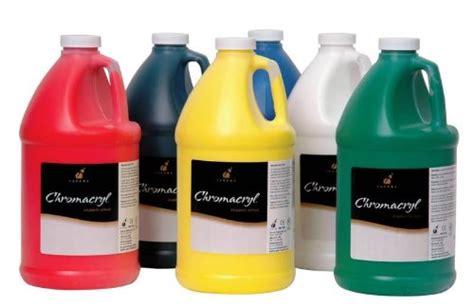 acrylic paint gallon chroma chromacryl premium acrylic paint 1 2 gallon set