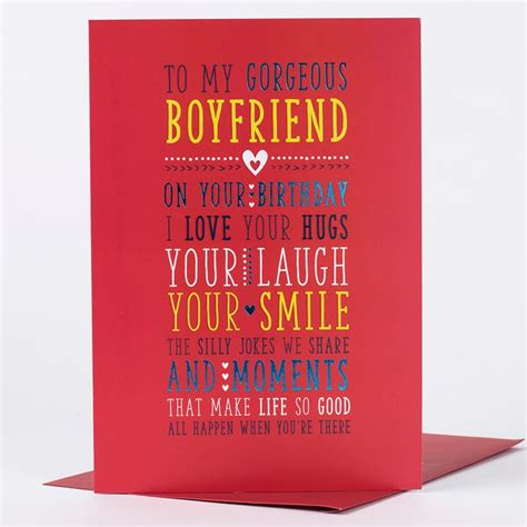 how to make a card for your crush birthday card gorgeous boyfriend only 89p