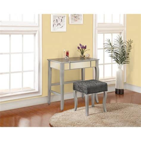 vanity sets for bedroom bedroom vanity set in silver 580432sil01u
