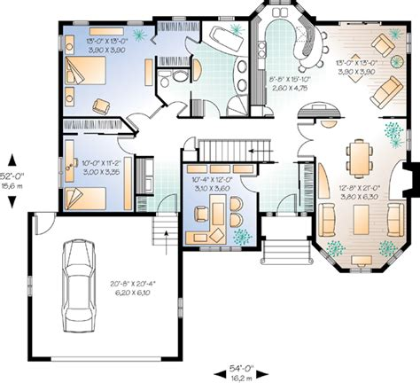 Multi Family Home Plans Duplex house plan 65085 at familyhomeplans com