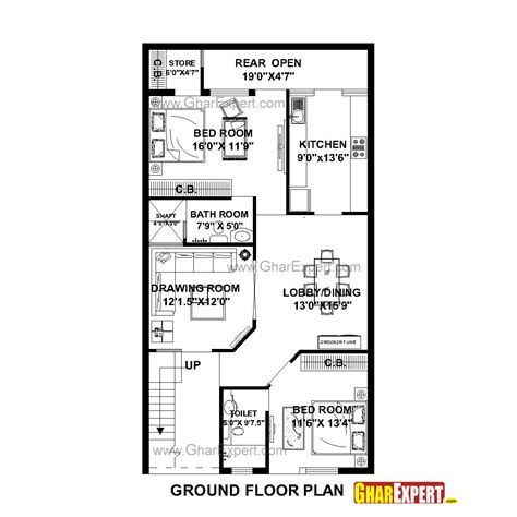 home design story room size house plan for 27 by 50 plot plot size 150