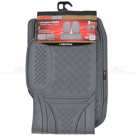 rubber sting mat motortrend front rear floor mats liner superior quality