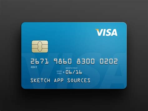 make a free credit card visa credit card template sketch freebie free