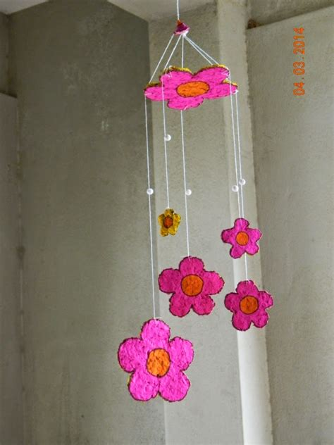 wind crafts for paper mache wind chime yellow craft