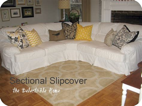 sofa covers for sectional the delectable home impossible sectional slipcover sew