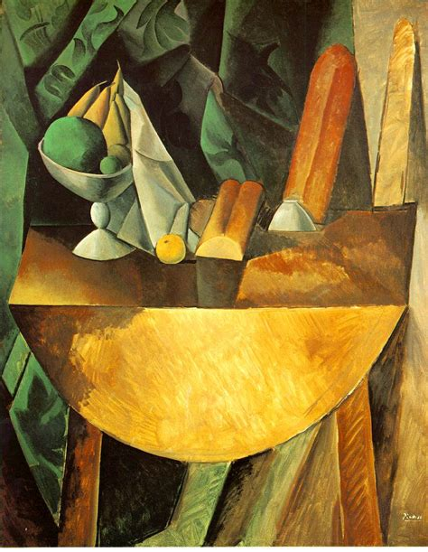 picasso paintings fruit bread and dish with fruits on the table picasso pablo