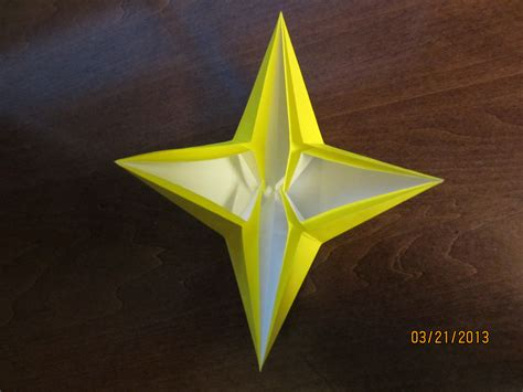 origami 4 point daily origami 42 four pointed by naganeboshni on