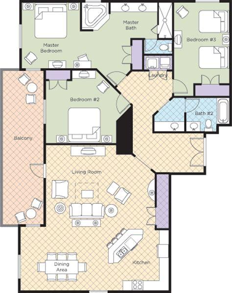 Wyndham Bonnet Creek 3 Bedroom Deluxe by Wyndham Bonnet Creek Resort Condo Rentals