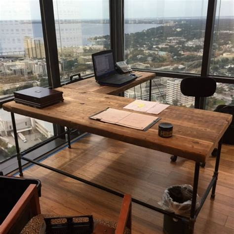 wood home office desks luxury offices beautifully reclaimed wooden desks