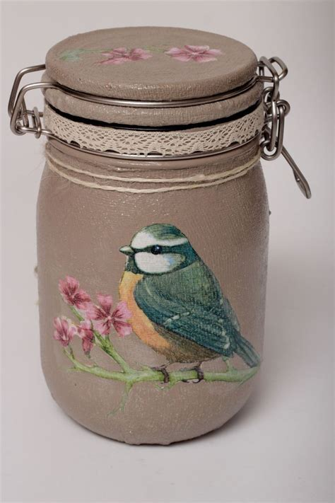 decoupage on glass jars 25 best ideas about decoupage jars on