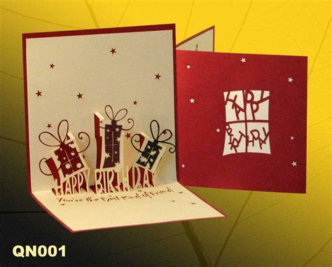 how to make handmade pop up greeting cards birthday gifts pop up handmade greeting cards qn001