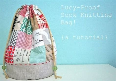 sewing pattern for knitting project bag knitting project and supplies bags buckets free sewing