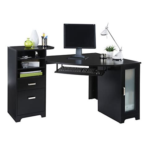 office depot corner desk bradford corner desk black by office depot officemax
