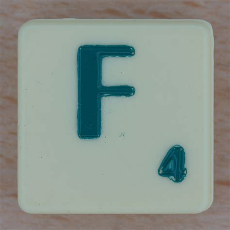 scrabble letter f back to photostream