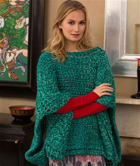 how to knit a poncho shimmering jade knit poncho allfreeknitting