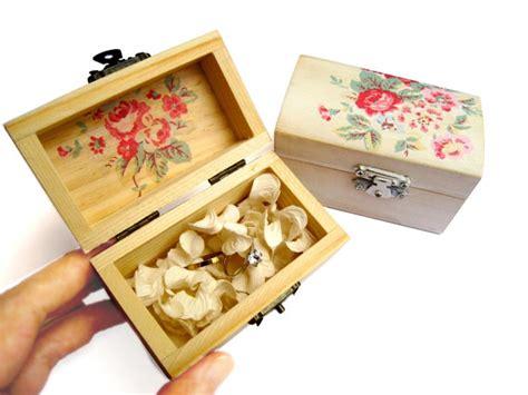 decoupage shoebox wooden box ring bearer bridesmaid gift box