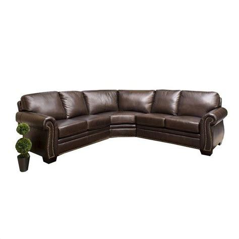 abbyson living arizona leather sofa truffle sectional