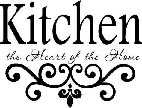 Easy To Install Kitchen Backsplash kitchen vinyl wall decal kitchen the heart of the home