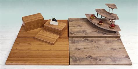 buffet table risers elite global solutions faux wood risers add visual
