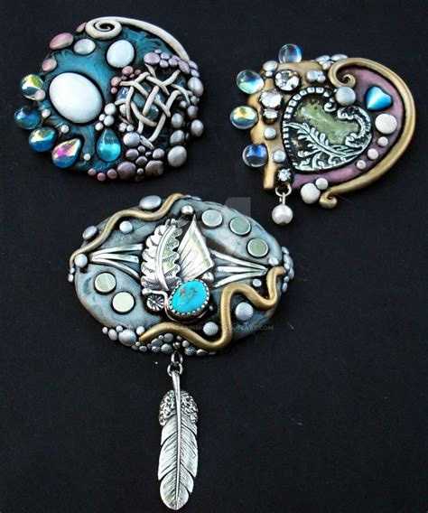 clay jewelry polymer clay jewelry 1 by mandarinmoon on deviantart