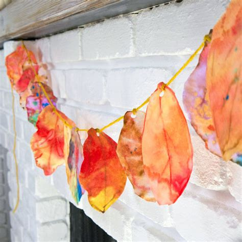 leaf crafts projects coffee filter fall leaves project for popsugar