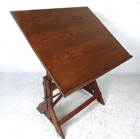 antique oak drafting table oak drafting table alvin titan ii solid oak split top